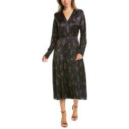 Vince Wisteria Silk Wrap Dress