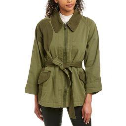 Current/Elliott The Relaxed Military Linen-Blend Jacket