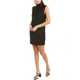 Theory Slit Collar Wool-Blend Shift Dress