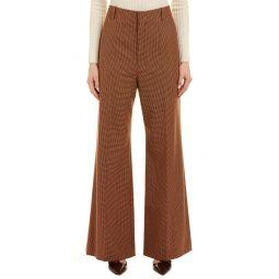 Chloe Check Wool-Blend Pant