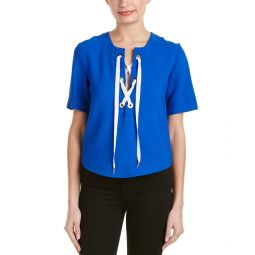 Sandro Effy Lace-Up Top