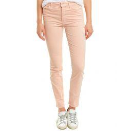 Mother Looker Petal Pink Corduroy High-Rise Ankle Skinny Leg