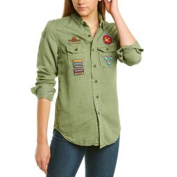 Mother The Scout Linen-Blend Top