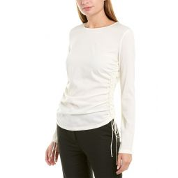 Theory Ruched Silk-Blend Top
