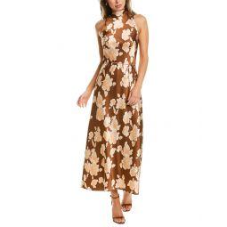 Vince Tapestry Floral Midi Dress