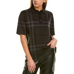 Burberry Kacie Check Oversized Silk-Blend T-Shirt