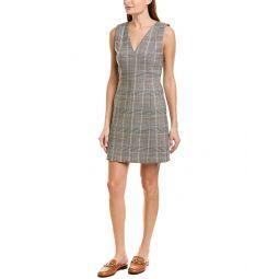 Theory Autumn Plaid Wool-Blend Sheath Dress