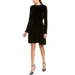 Theory Velvet Silk-Blend Sheath Dress