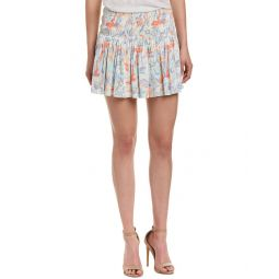 Maje Smocked Mini Skirt