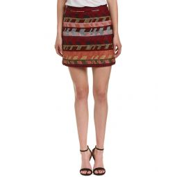 Maje Jacquard Knit Mini Skirt