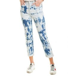 Madewell The Perfect Tie-Dye Indigo Vintage High-Rise Skinny Crop
