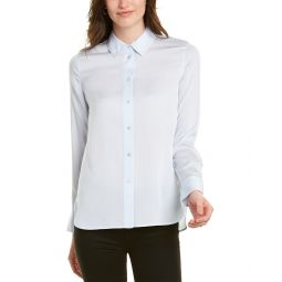 Vince Slim Fitted Silk-Blend Blouse