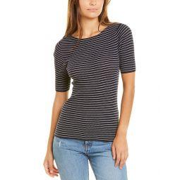 Vince Stripe Ribbed T-Shirt