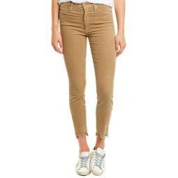 Mother Looker Honey Corduroy High-Rise Ankle Skinny Leg