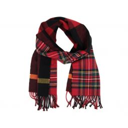 Burberry Womens Bright Red Wool Vintage Check Scarf 40677541