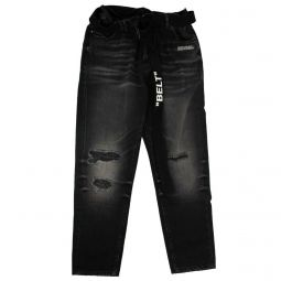 OFF-WHITE C/O VIRGIL ABLOH Black Straight Leg Jeans