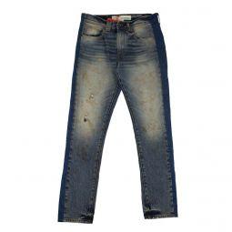 OFF-WHITE C/O VIRGIL ABLOH Blue Panel Slim Fit Jeans