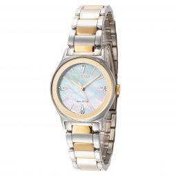 Citizen Womens Axiom EM0734-56D 28mm Mother-of-Pearl Stainless Steel Watch