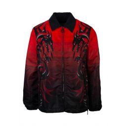Lanvin Mens Dragon Tribal Print Jacket