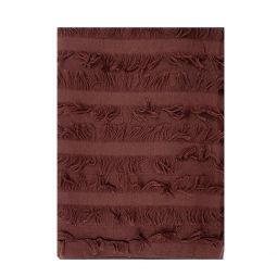 Chloe Womens Wool Silk Fray Design Stole Scarf Burgundy