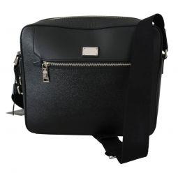 Dolce & Gabbana Black Messenger Men Shoulder Borse Leather Bag