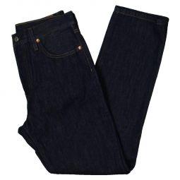 501 Womens High Rise Dark Wash Straight Leg Jeans