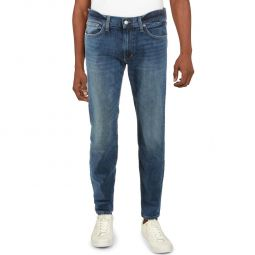 Brixton Mens Mid-Rise Straight Leg Jeans