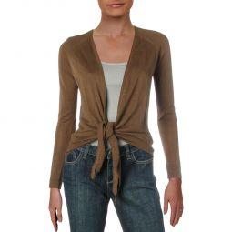Lauren Ralph Lauren Womens Nalani Cropped Tie Front Sweater