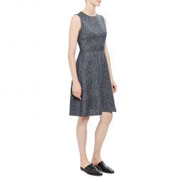 Theory Womens Linen Fit & Flare Mini Dress