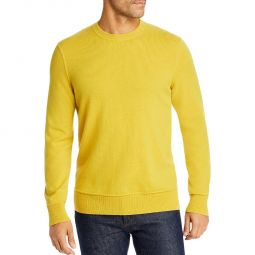 Mens Cashmere Ribbed Trim Pullover Sweater