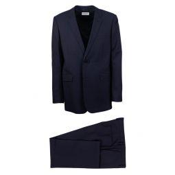 SAINT LAURENT PARIS Navy Wool Blend 2 Button Suit