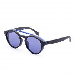 Fendi Mens Fashion FF-M0017-F-S-0807-KU 53mm Black Frame Sunglasses