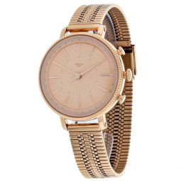 Fossil Womens Hybrid Smartwatch Cameron Rose Gold Watch - FTW5054