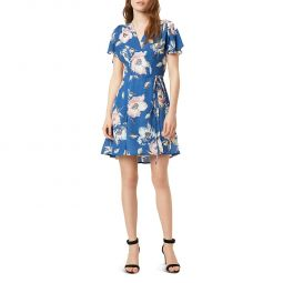 French Connection Womens Cari Crepe Floral Mini Dress