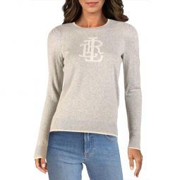 Womens Cashmere Graphic Crewneck Sweater