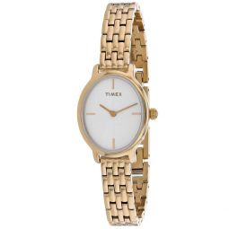 Timex Womens Milano White Dial Watch - TW2R94100