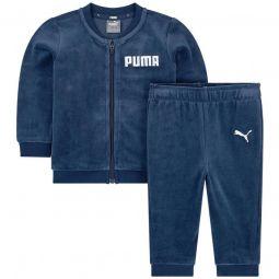 Velvet sweatshirt and tracksuit pants