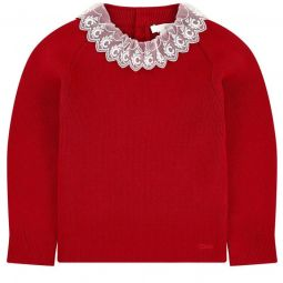 Jumper with lace collar Mini Me