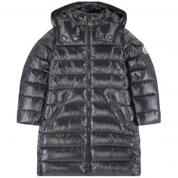 Moka long winter jacket with feather and down padding