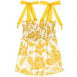 Short cotton voile playsuit