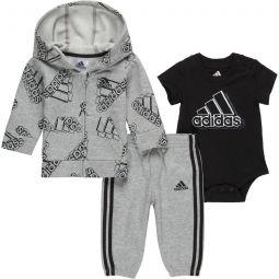 AOP 3-Piece Fleece Jacket Set - Infant Boys