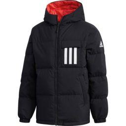 Reversible 3-stripe Down Hooded Jacket - Mens