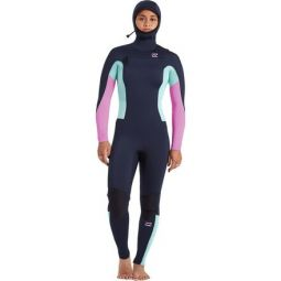 5/4 Furnace Synergy Chest-Zip Hooded Full Wetsuit - Womens