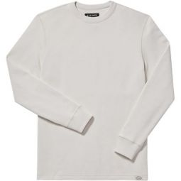 Waffle Knit Thermal Crewneck Top - Mens