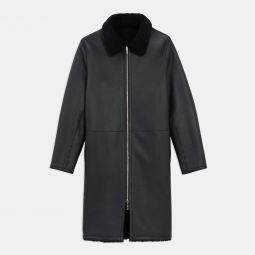 Wilkens Reversible Coat in Shearling