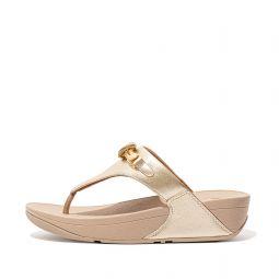 LULU Loopknot Leather Toe-Post Sandals