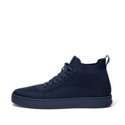 RALLY Mens Water-Resistant Knit High-Top Sneakers