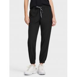 MESH INSERT JOGGER WITH LOGO DRAWCORD