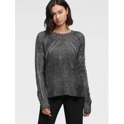 TWO-TONE CONTOUR SWEATER