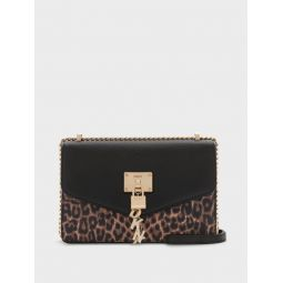 ELISSA LARGE LEOPARD SHOULDER BAG